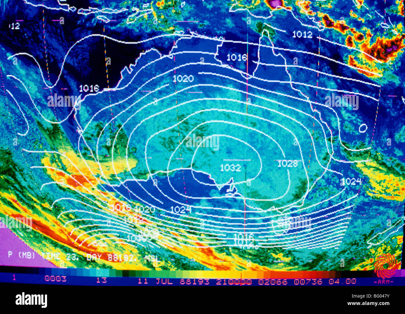 Weather Map Australia Stock Photo Royalty Free Image