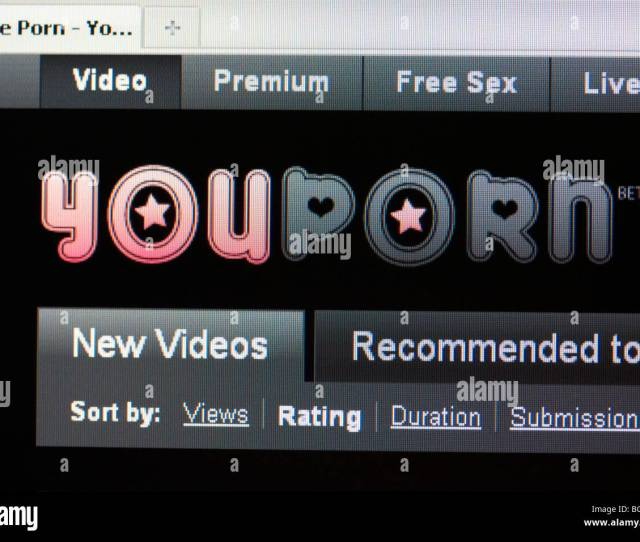 Screenshot Of Free Internet Porn Website Youporn For Editorial Use Only
