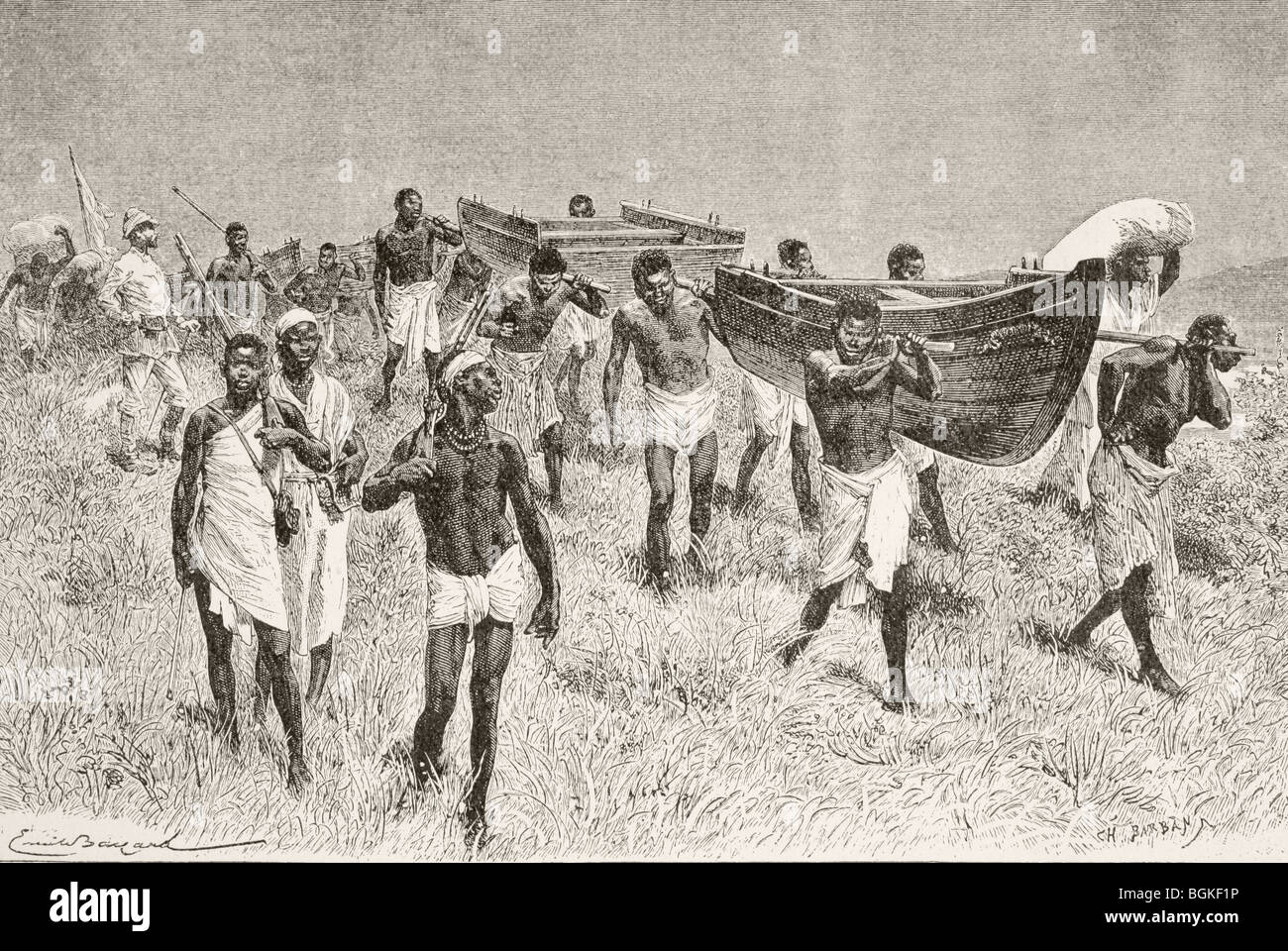 African Porters Carrying Sir Henry Morton Stanley S