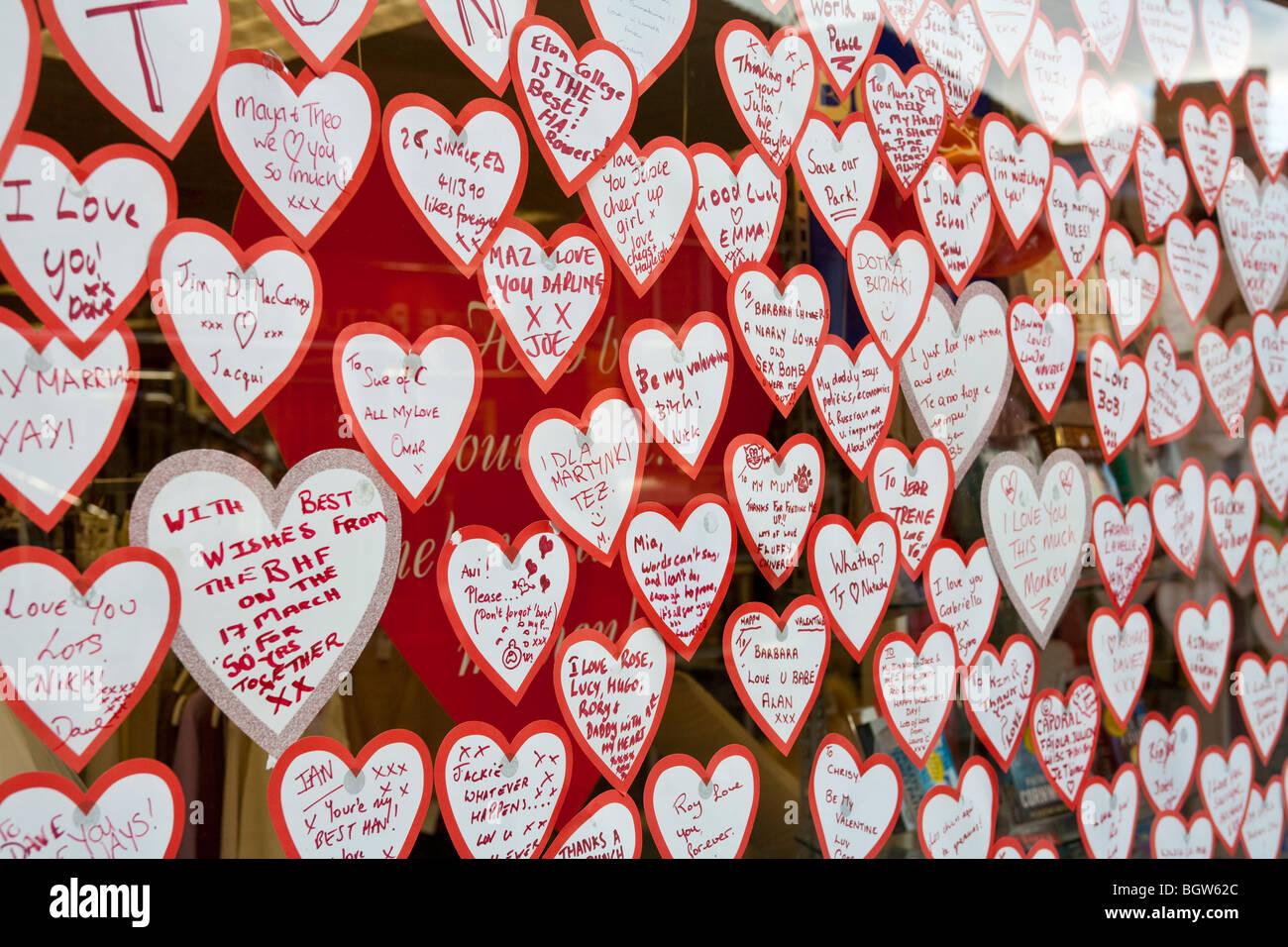 Valentines Day Shop Window Display Stock Photos