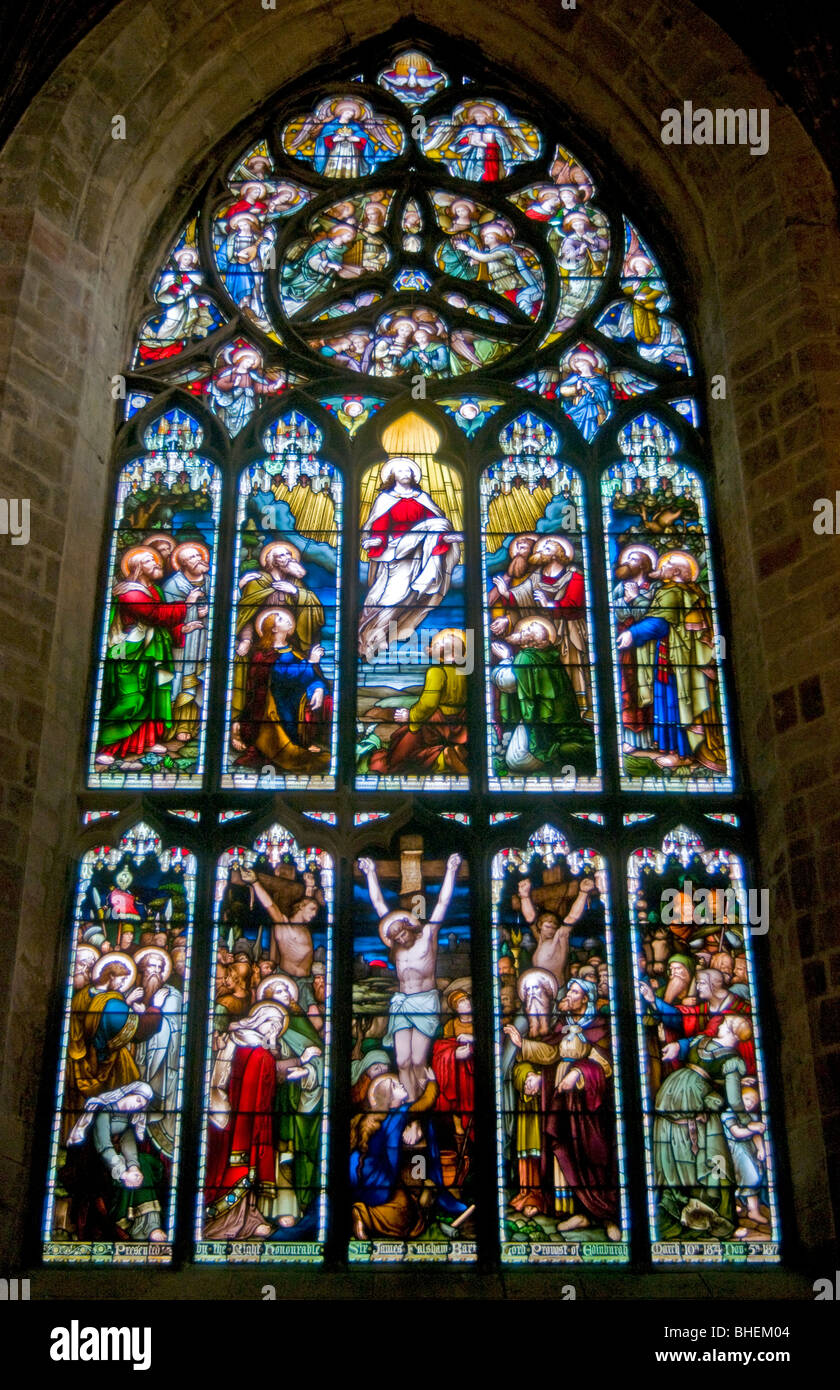 The Central Stained Glass Window In St Giles Cathedral