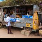 India Kerala Munnar Bazaar Food Stall Converted From Old Stock Photo Alamy
