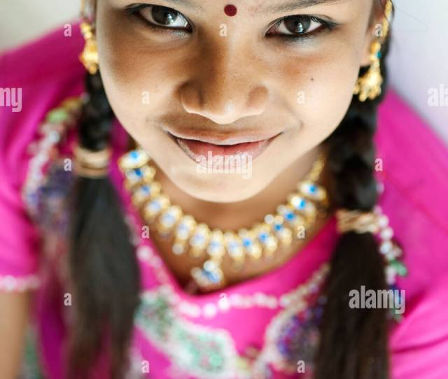 Beautiful Young Indian Girl With A Big Happy Smile India Stock Image