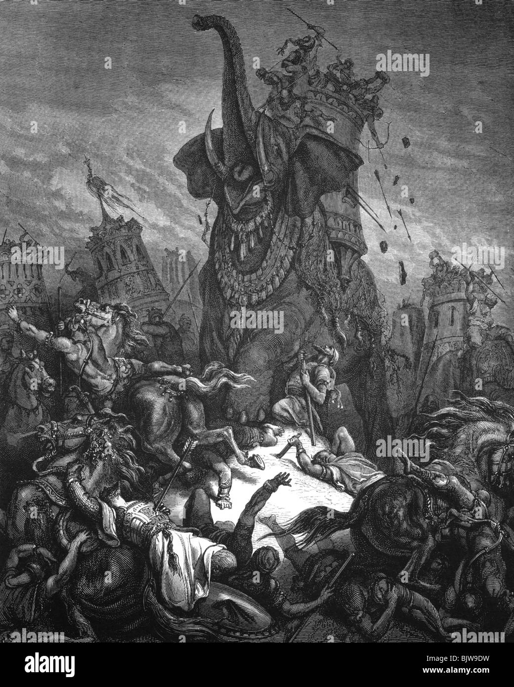 Religion Biblical Scenes Death Of Eleazar Wood