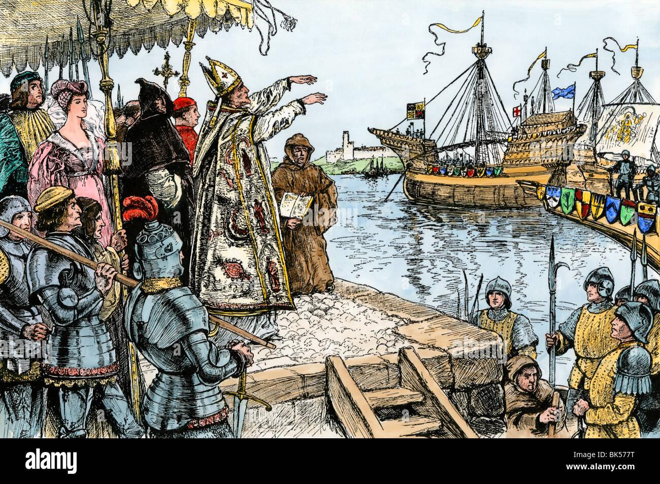 Henry V Sending English Forces To Battle In France