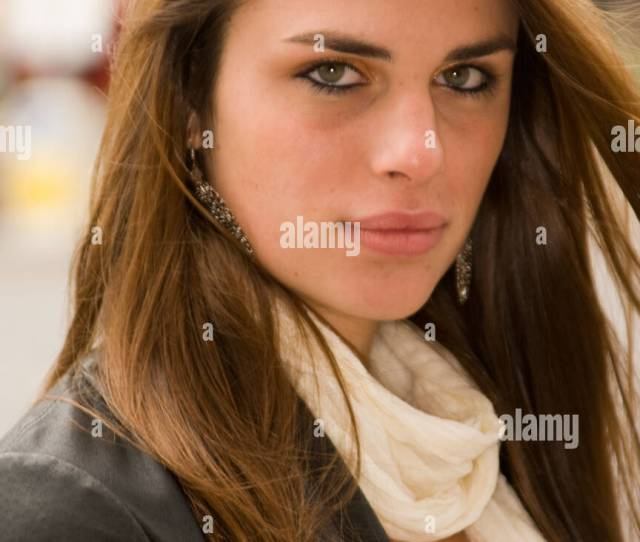 Portrait Of A Pretty Teenage Girl Looking Into Camera Stock Image