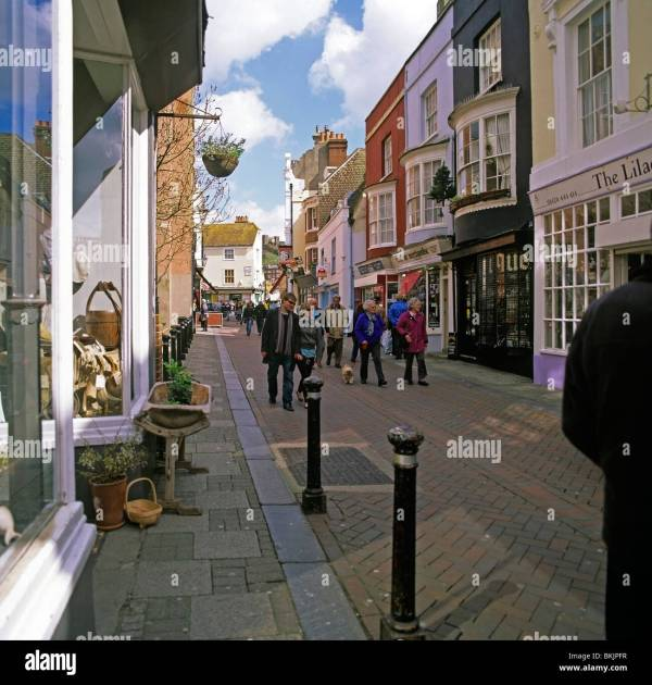 Old Town Hastings Shopping Stock Photos & Old Town ...