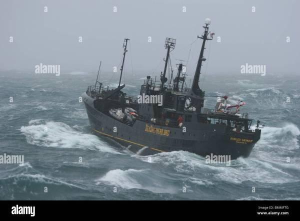 Sea Shepherd Conservation Society ship, the 'Farley Mowat ...