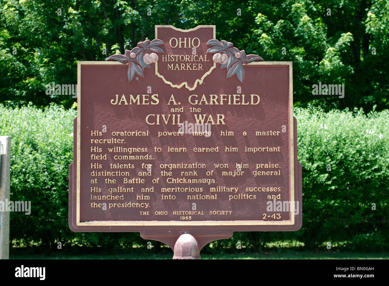 James A Garfield Monument Stock Photos Amp James A Garfield