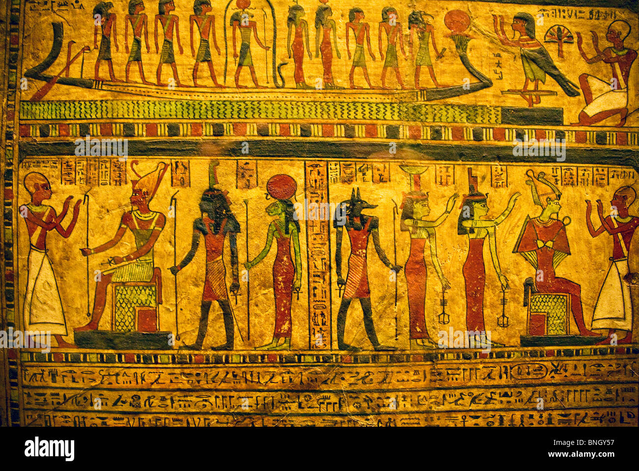 Hieroglyphics With Egyptian Gods And Godesses France