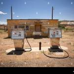 Abandoned Gas Station Dewey Bridge Upper Colorado River Scenic Stock Photo Alamy