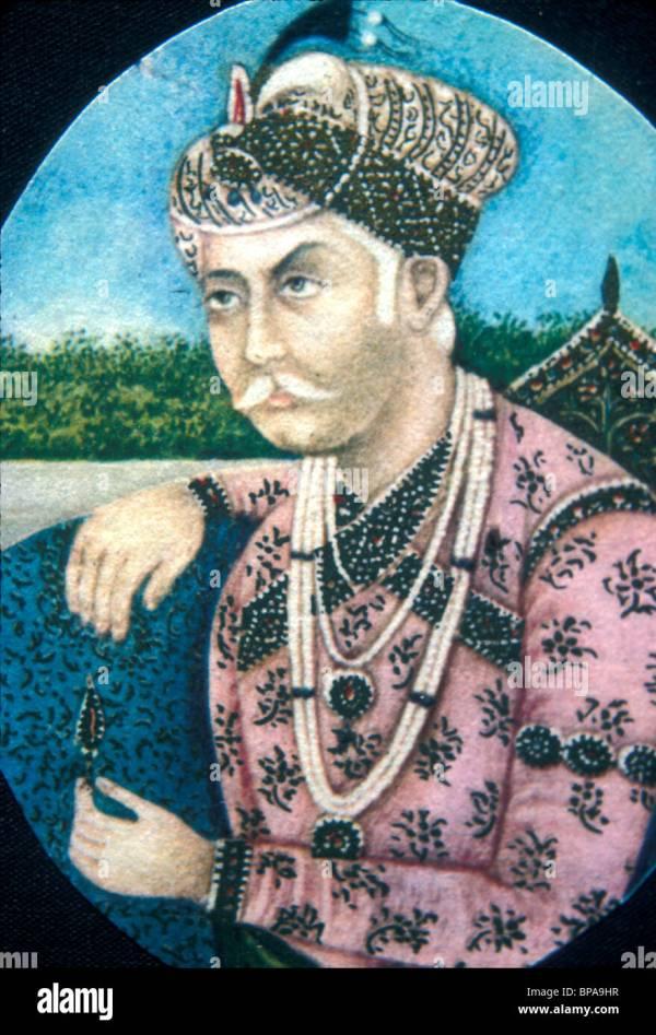 Portrait of Jalal UdDin Akbar Mughal emperor of India in