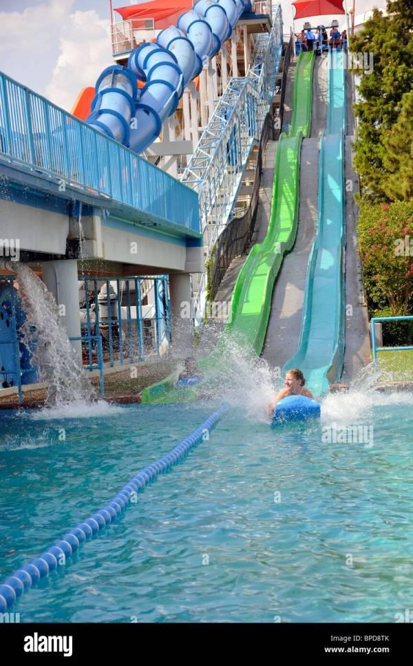 Hurricane Harbor Waterpark Water Park Amusement Slide ...