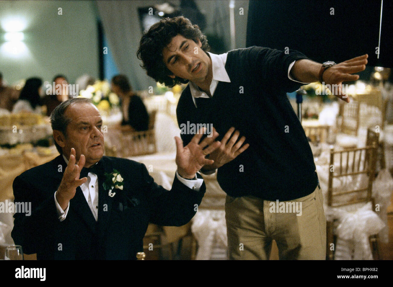 JACK NICHOLSON & ALEXANDER PAYNE ABOUT SCHMIDT (2002) Stock Photo