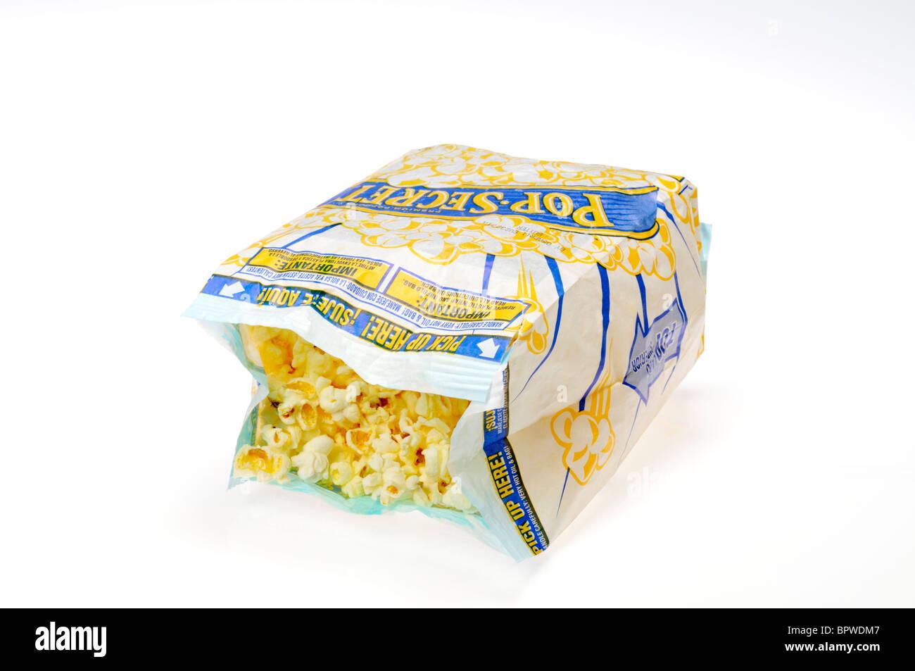 https www alamy com stock photo an open bag of pop secret microwave popcorn on white background cutout 31292359 html
