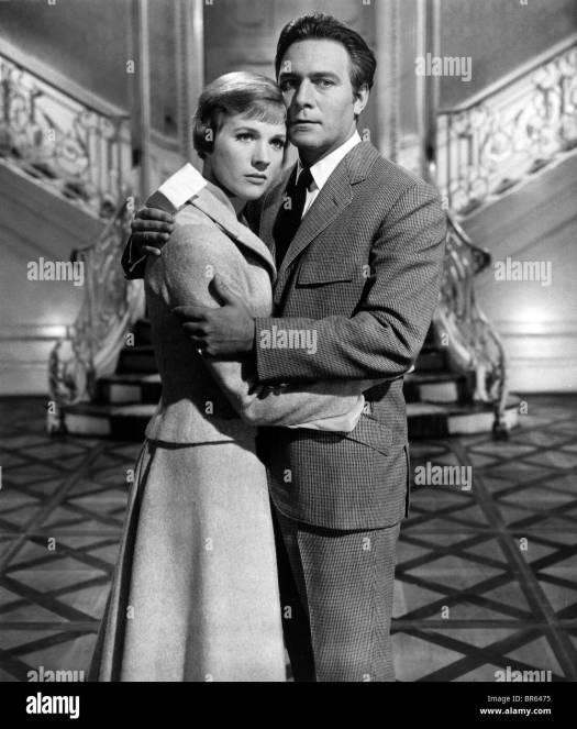 Christopher Plummer Julie Andrews Black and White Stock ...