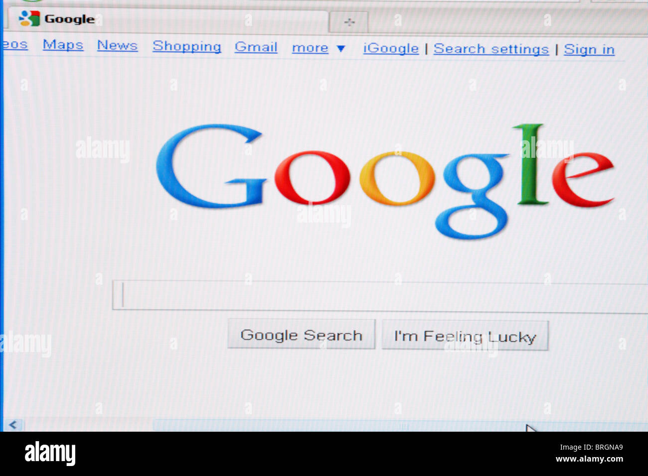 Best Kitchen Gallery: Website Screen Shot Of Google Search Engine Stock Photo 31715441 of Google Search Homepage Website on rachelxblog.com