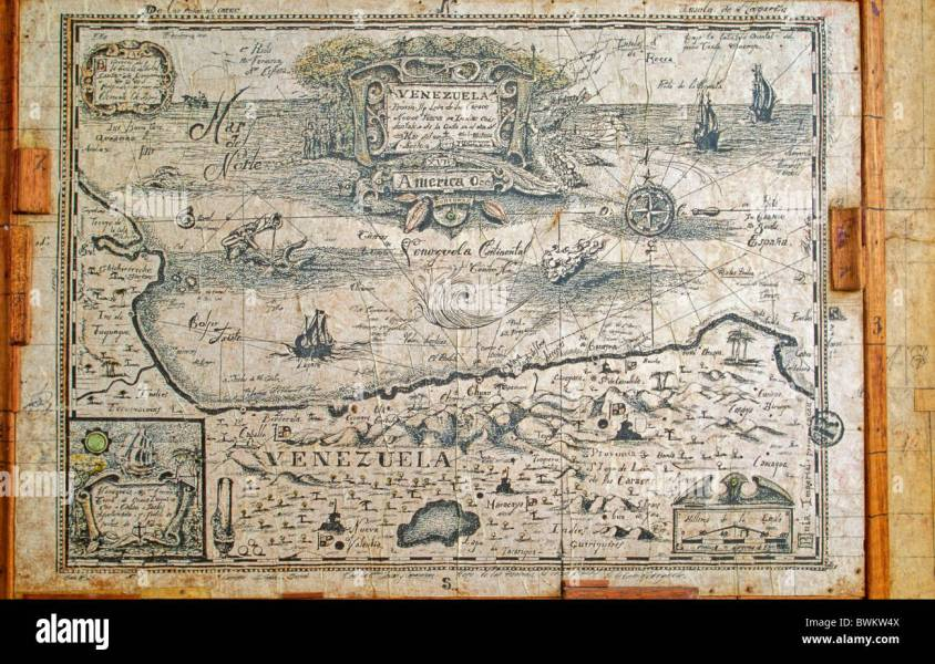 Venezuela South America Old Map Navigation Mariner Navigator History     Venezuela South America Old Map Navigation Mariner Navigator History  Historical Colonia lism Colonisation P