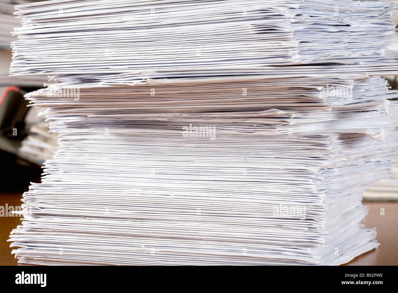 Sheets Leaves Paper Dossiers Piles Large Amounts Heaps