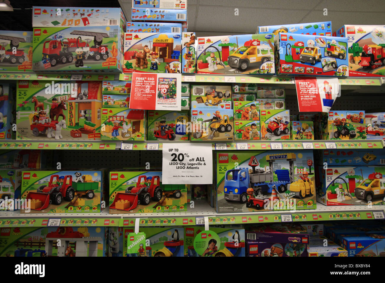 Lego vehicles on sale in Toys R Us store  Ontario  Canada Stock     Lego vehicles on sale in Toys R Us store  Ontario  Canada