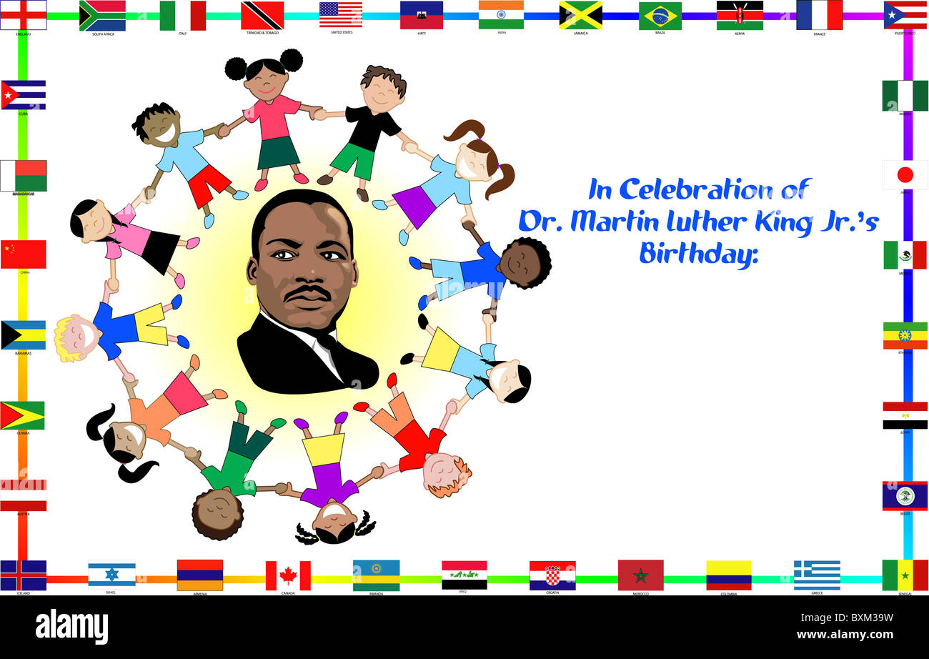 Illustration Of Dr Martin Luther King Dream Come True