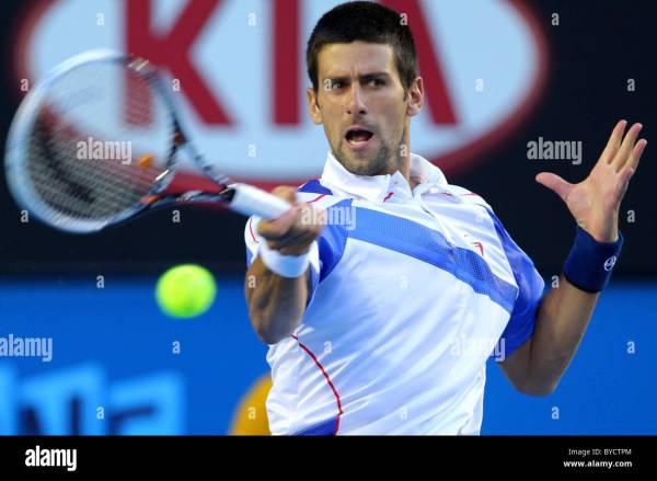 Tennis Australian Open Mens Singles Stock Photos & Tennis ...