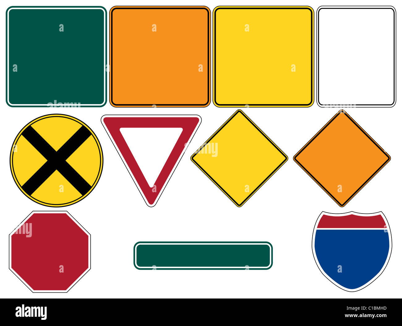 Yield Sign Blank Stock Photos Amp Yield Sign Blank Stock