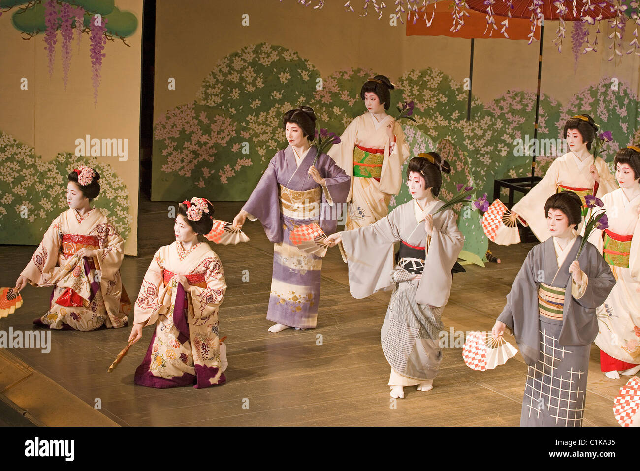 Japan Kansai Kyoto Traditional Japanese Theater Kyogen