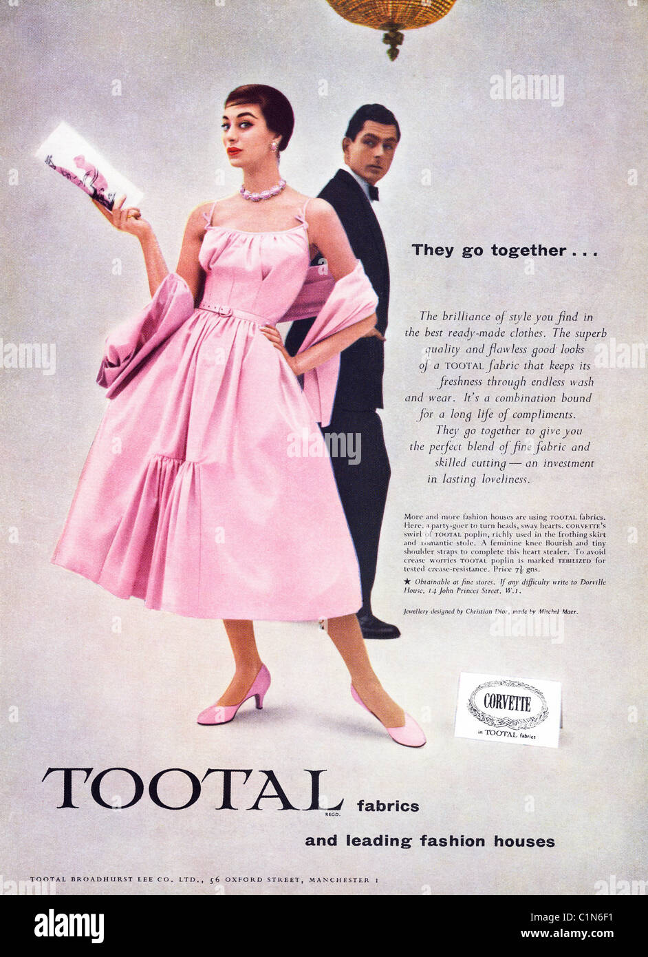 Original Full Page 1950s Advert In Womens Fashion