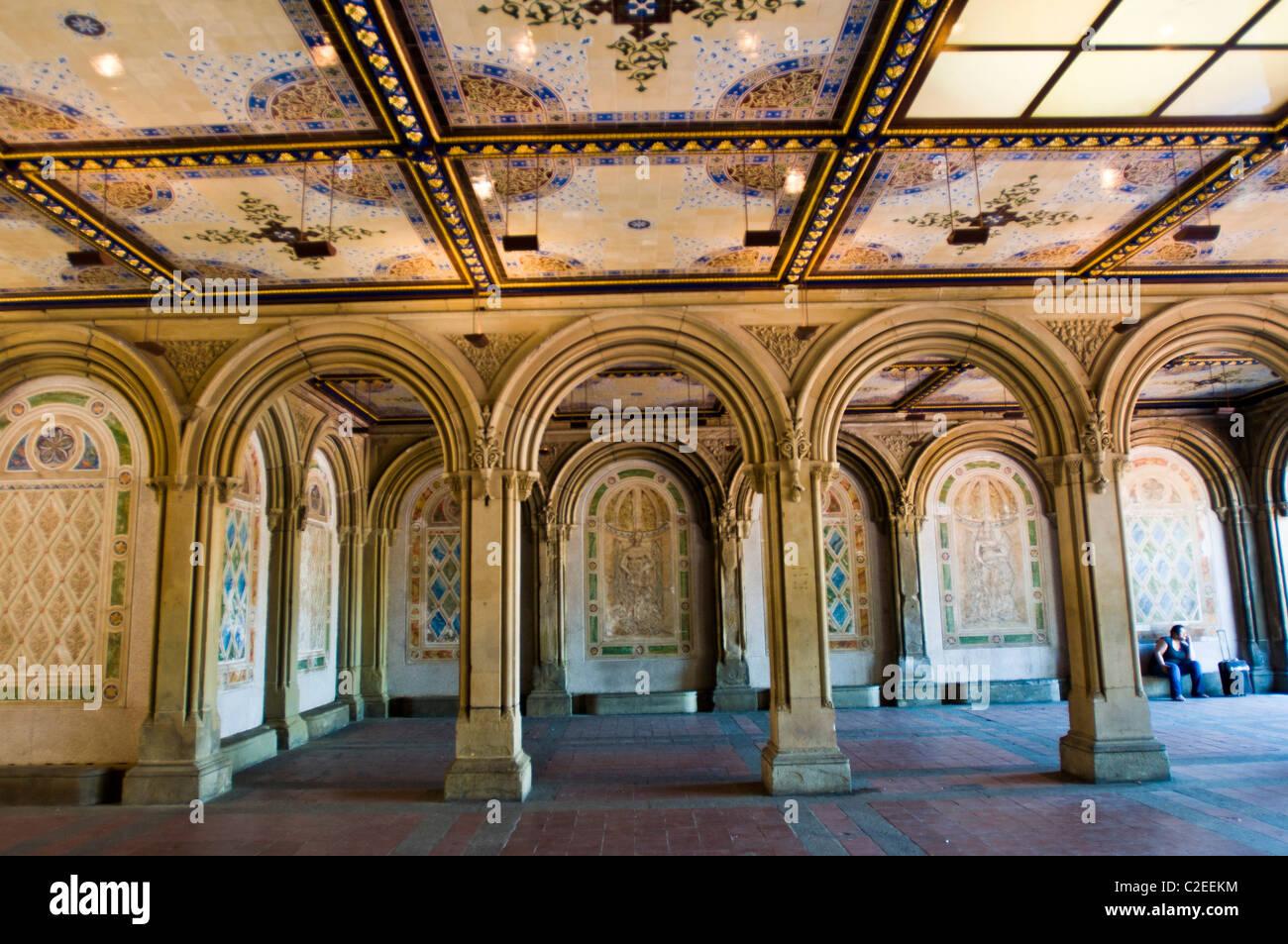 Restored Bethesda Terrace Arcade Central Park Manhattan