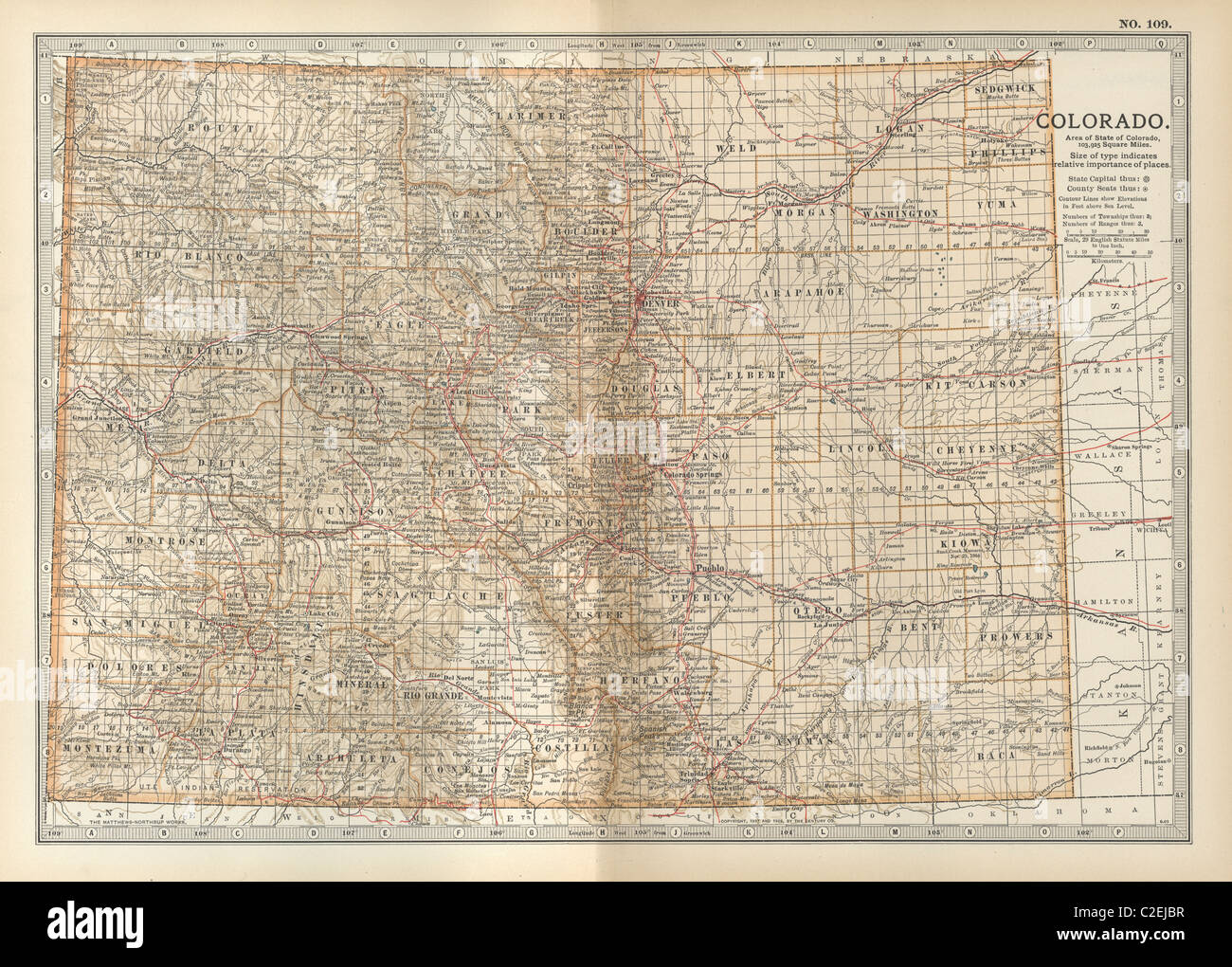 Colorado Map Stock Photos   Colorado Map Stock Images   Alamy Map of Colorado   Stock Image