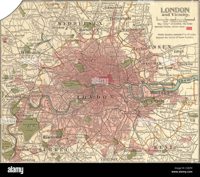 London Map Stock Photos   London Map Stock Images   Alamy Map of London   Stock Image