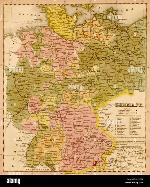 Germany Maps Stock Photos   Germany Maps Stock Images   Alamy Germany   1844   Stock Image