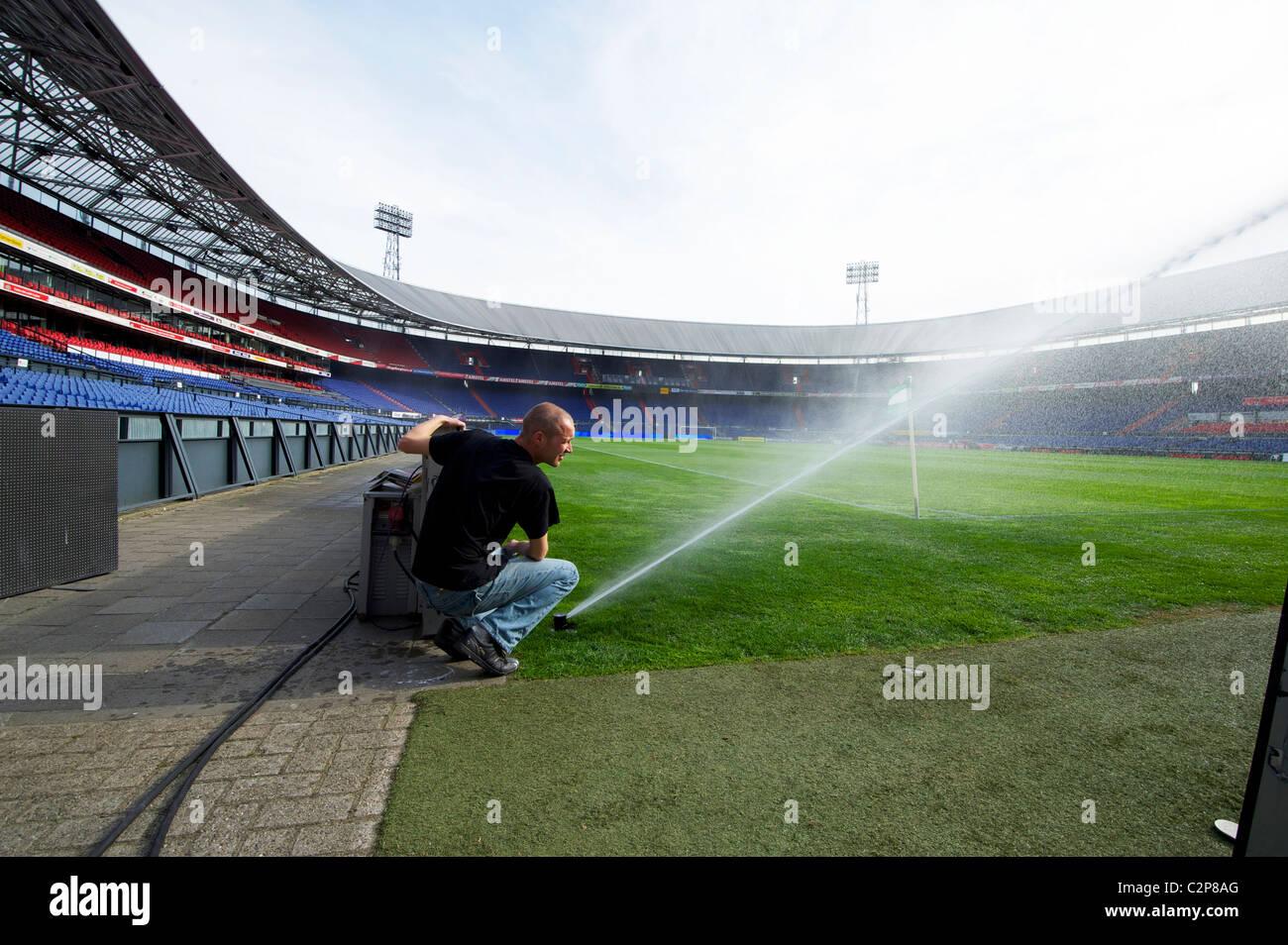 https www alamy com stock photo holland rotterdam groundsman at work at football stadium de kuip home 36139560 html