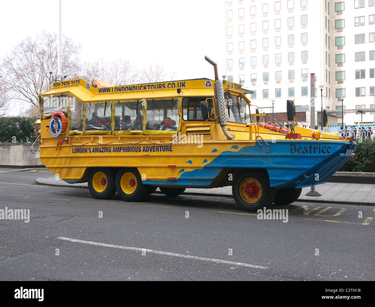 Side View Of One Of The Amphibious Dukw Vehicles Used For