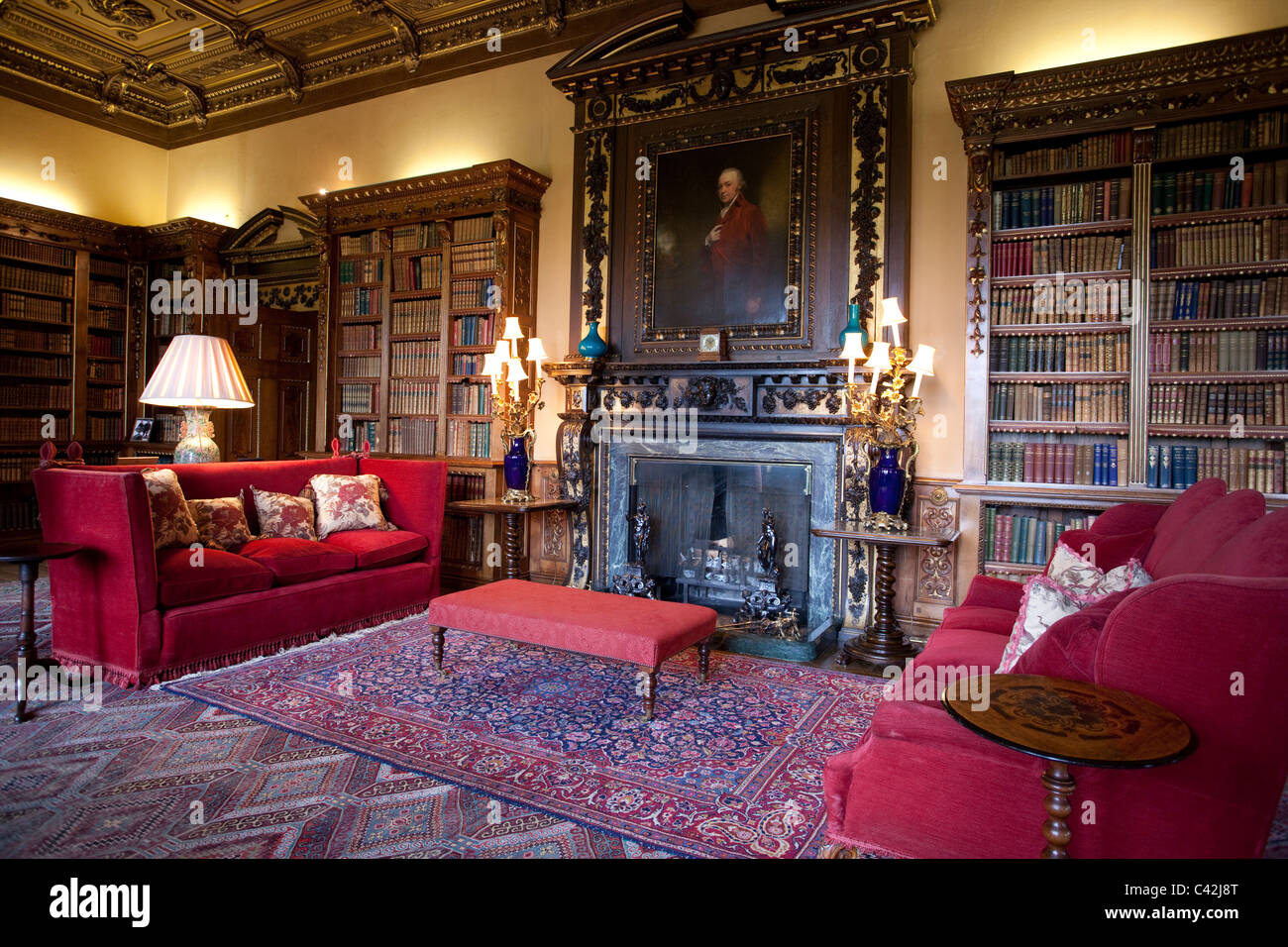 The Double Library Inside Highclere Castle Newbury