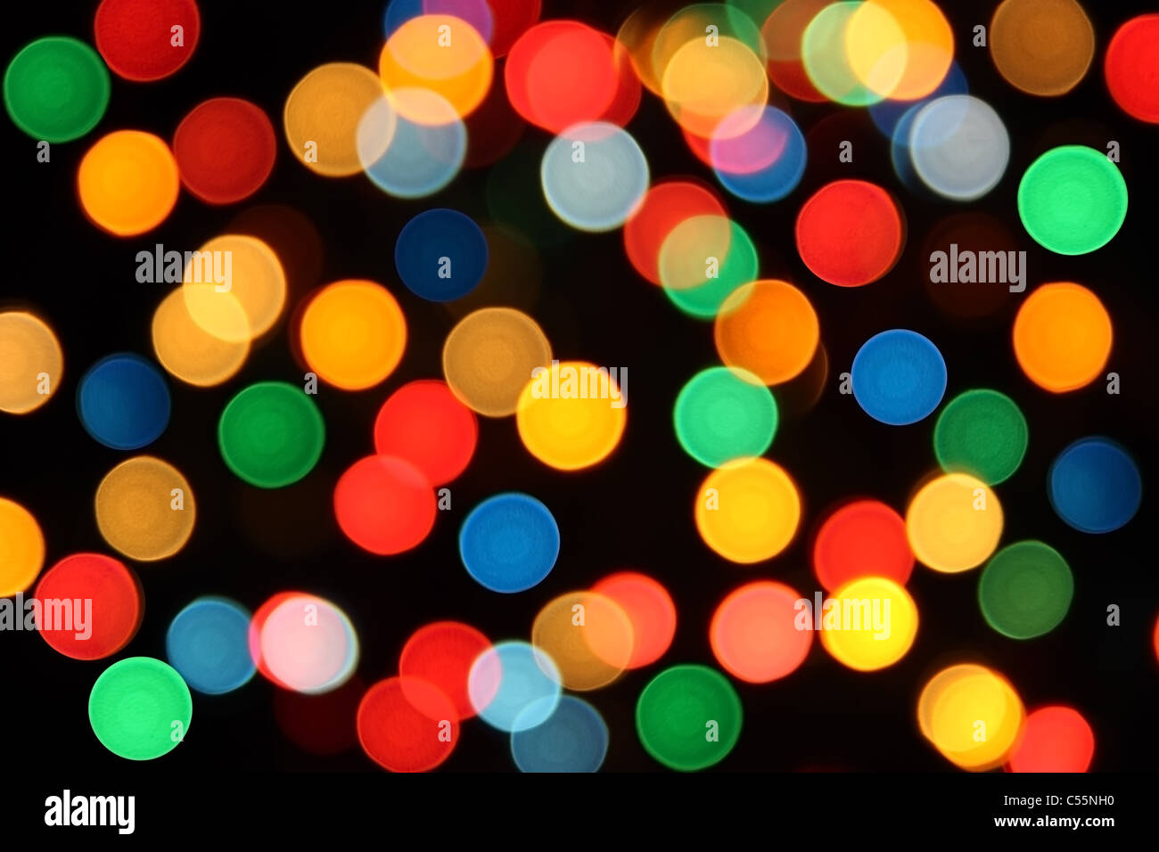 Spots Of Different Colors Red Blue Green Yellow Orange On