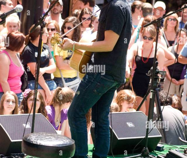 Tyler Hilton Performs During The Walgreens Summer Concert Series At The Gardens Of The Magnificent Mile Chicago Illinois