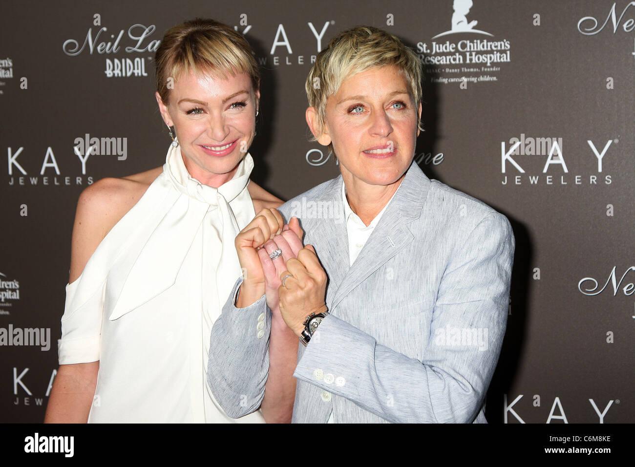Portia DeRossi & Ellen DeGeneres Show Off Their Wedding