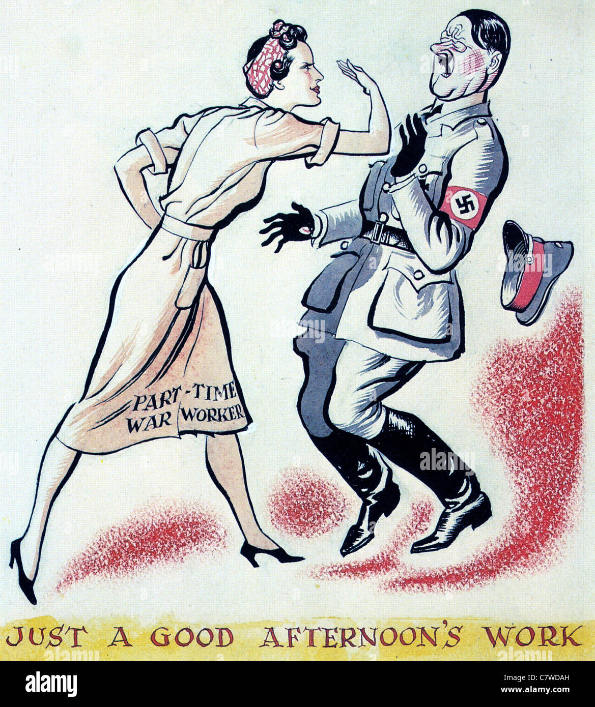 Part Time War Worker British Ww2 Poster Stock Photo