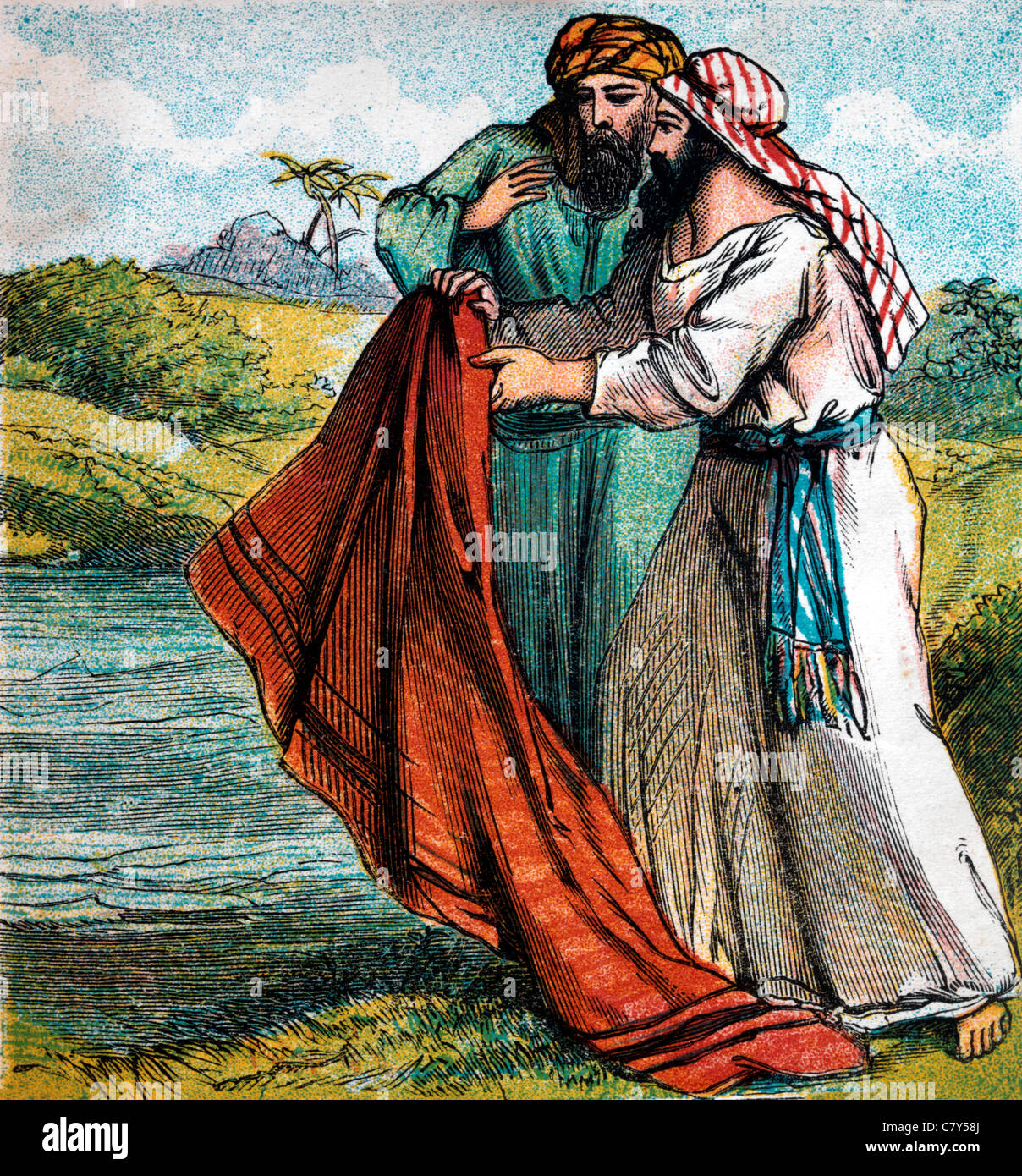 Bible Stories Illustration Of Elijah And Elisha Elijah