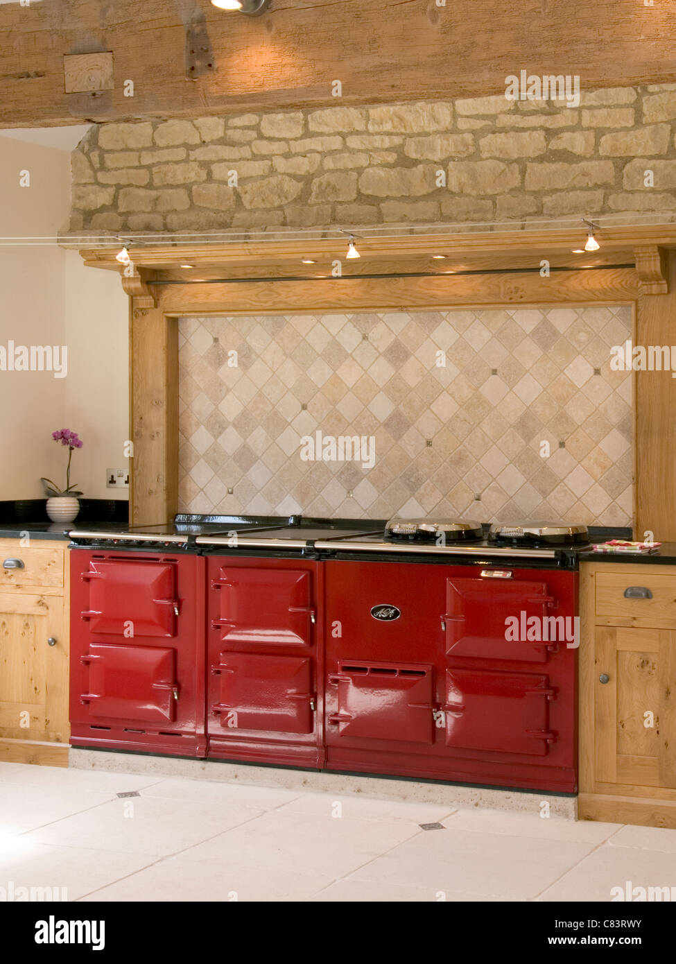 Aga Range Cooker Stock Photos & Aga Range Cooker Stock Images - Alamy