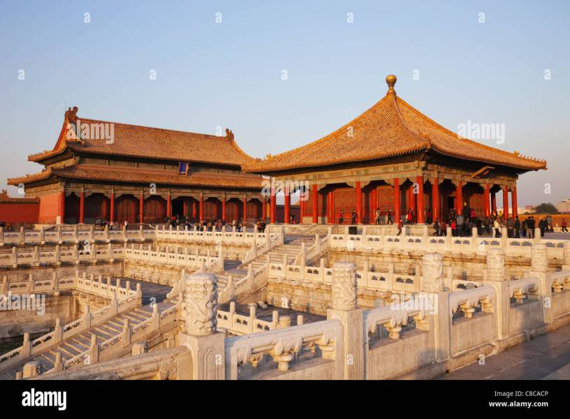 Hall Of Preserved Harmony Stock Photos   Hall Of Preserved Harmony     China  Beijing  Palace Museum or Forbidden City  Hall of Preserved Harmony   Left