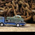 1960s Nineteen Sixties Vintage Dinky Toy Cars Repair Tow Truck And Stock Photo Alamy