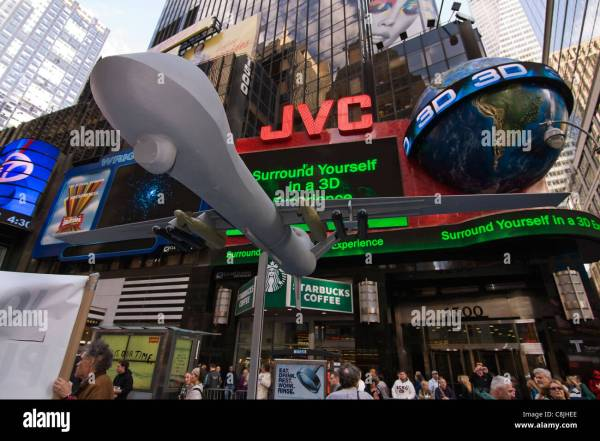 Predator Drone Model in Times Square New York City part of ...