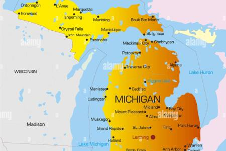 state of michigan vector » ..:: Edi Maps ::.. | Full HD Maps