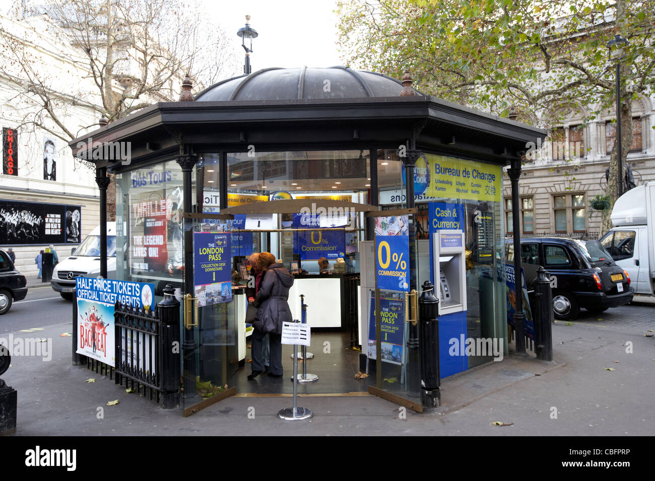 bureau de change tour bookings and theatre booking office in theatreland west end london england uk united kingdom