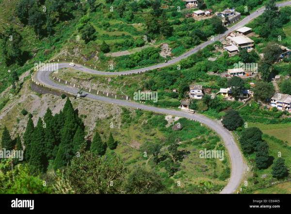 hairpin bend hairpin turn hairpin road Nainital ...