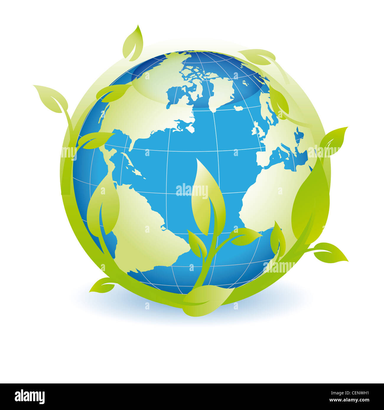 Green Globe You Can Use On Earth Day Stock Photo