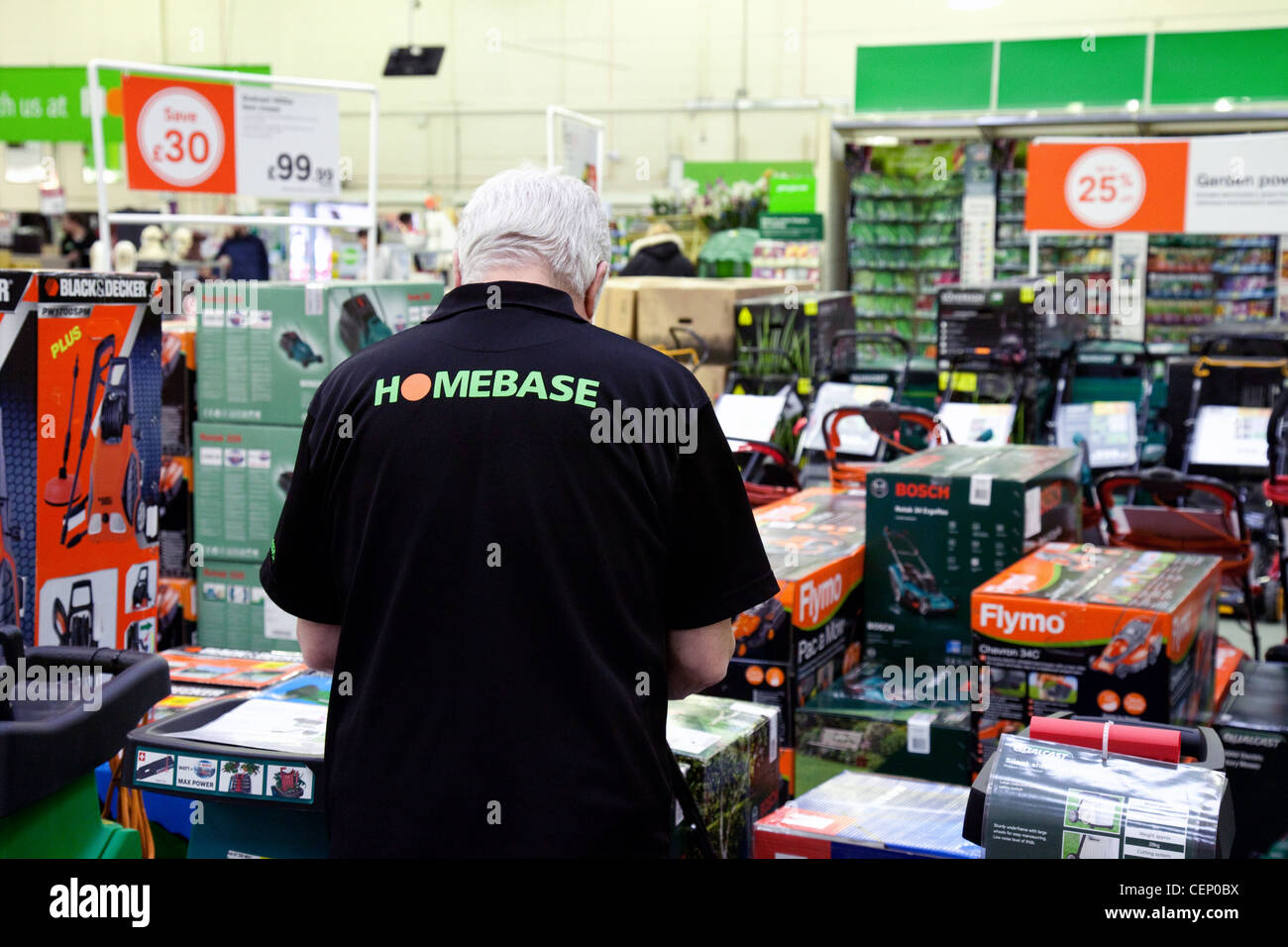 Staff At Work In Homebase, Newmarket Suffolk UK Stock